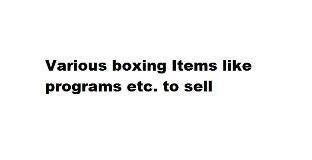 Various Boxing Items